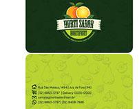Panfleto + Cartão  visita para um hortifruti