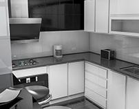 Render de remodelación (Cocina)