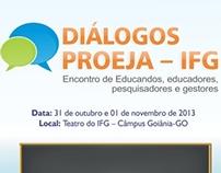 Peças para evento da área de educação do IFG