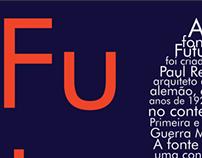 Fonte Futura - Cartaz Tipográfico