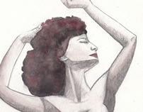 Ilustraciones en acuarela y tinta