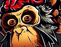 Zombie Chimp Illustration