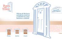 Layout para Website Porta do Tempo