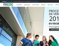 Site Faculdade FACOC (www.facoc.edu.br)