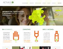 Maquetación sitio web responsivo