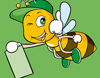 Bee Online - Background e Mascote