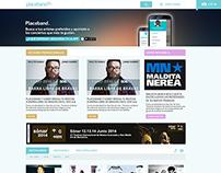 Diseño web realizado para placeband.com