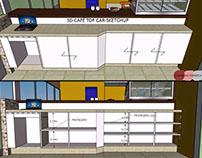 Cafeteria Mobiliário SKETCHUP