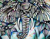 Elefante entre líneas