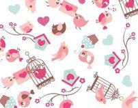 Estampa Infantil - Pássaros