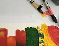 Veggies - Marker Painting