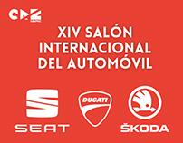 Gráfica para Seat Skoda y Ducati. Salón del automóvil