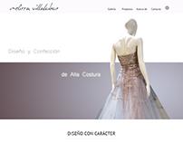 Sitio web de Diseñadora de Modas