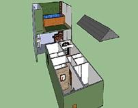Casa com Piscina - Sketchup