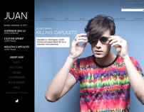 JUAN'S WEBSITE. DESIGN