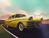 Retouching - Classic car