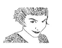 Composição Tipográfica ( Feito à mão) - Amelie Poulain