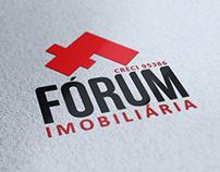 Fórum Imobiliária - Logo, site e papelaria.