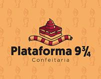 Logotipo Plataforma 9 3/4 - Confeitaria