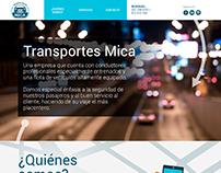 Transportes Mica - Diseño de sitio web