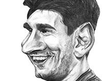 Messi Caricatura