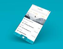 Travel Log App - Concept - IOS Interface Design