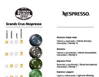 Diseños de cartas de café Nespresso para clientes