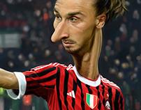 Caricature Zlatan Ibrahimovic - Illustration