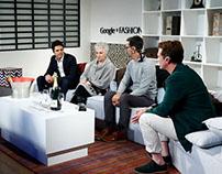 Google Fashion 2014 Pasarela, sets Hangout, 1 to 1.