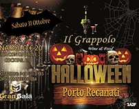 Halloween flyer for wine in Porto Recanati