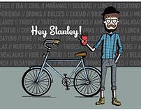"""COFFEE BIKEFRIENDLY """"HEY STARLEY!"""""""