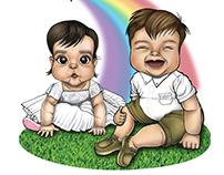 Baby Victoria and Amilcar