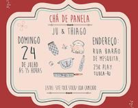 Convite Chá de Paneça