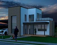 sky fall - 3D House