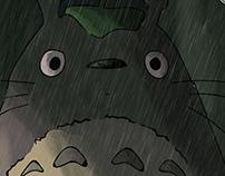 """Totoro's classical scene from"""" My Neighbor Totoro."""