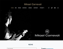 "Parallax Website Design for ""Mikael Carnevali"""