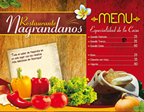 Menú Nagrandano, Salvador Allende, Managua, Nicaragua.