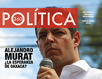 """Portada Revista """"Política 360""""."""