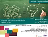 Placa Invitación a Charla de Microemprendedores
