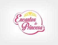 ENCANTOS DE PRINCESA - Logo, cartão