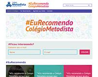 Hotsite #EuRecomendo Colégio Metodista