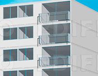 Modelado Inorgánico : Edificio y departamento.