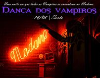 """Flyer para festa """"Dança com vampiros"""" no Madame Satã"""