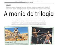 Redação jornalística - Trilogia nos games