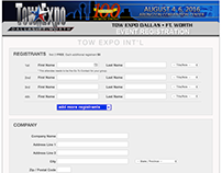 TOW EXPO Registration Engine + API