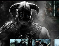 Site baseado em Skyrim