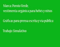 Proyecto estudiantil, marca: Poroto Verde.