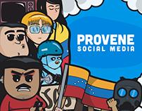 Provene. Redes sociales.