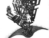 Boceto para Aguafuerte Aguatinta