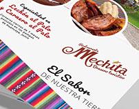"Flyer. Restauran Andino ""Mechita"" Perú"